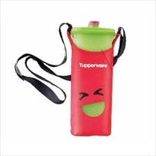 Tupperware Smiley Bottles (1) 2.0L (Green) + Pouch (Red)