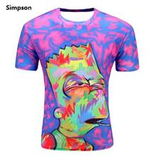 3D t-shirts Men Man Boy Guy Simpson Clothing Baju tops tees