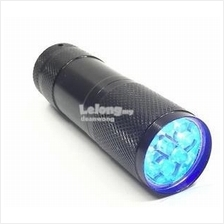 9LED UV Flashlight UV curing 395nm light agent