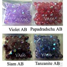 6mm AB #5000 Austrian Swarovski Crystal Round Colour Choice Mix B 20p