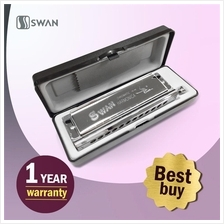 Swan Chromatic Harmonica Mouth Organ With Black Box (Professional)
