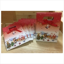 Small Size Standing Paper Bag Christmas Design Gift Party Pack (12pcs)
