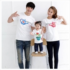 Korean Watering Flower Family T-Shirt / Couple T-shirt