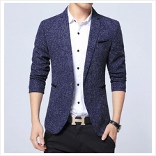 Men Business Blazer Casual Cotton Slim Korea Style Suit Jacket