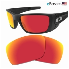 eBosses Polarized Replacement Lenses for Oakley Fuel Cell - Fire Red