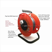 Buatan Malaysia SJP Cable Reel Set c/w 20Meter Cable Heavy Duty