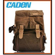 Caden N5 Water-resistant Canvas Backpack Camera Bag - COFFEE