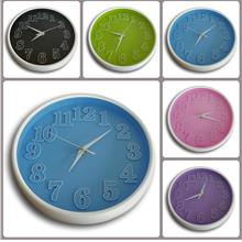 3D Colourful Wall Clock/Jam Dinding 3D Warna
