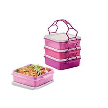 Tupperware Small Goody Box with Cariolier (4) 790ml - Pink