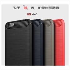 Vivo Y65 Y55 V9 Y71 Durable Carbon Brushed TPU Silicone Soft Case Cove