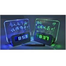 Creative USB mute luminous projecor clock fluorescence message board