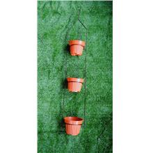 BRONZE COLOR 3 POTS HANGING IRON RACK STAND HG-118