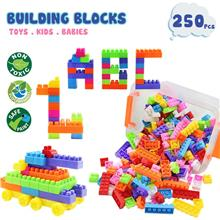 250 Pcs DIY Colourful Building Blocks BPA Free Toys Set Early Learning