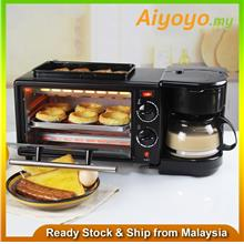 3 in 1 Multifunction Breakfast Maker Toaster Coffee Machine Oven Elect