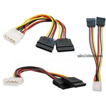 Molex male 4 Pin IDE to 2x SATA female 15 Pin Power connector Y cable High Qua