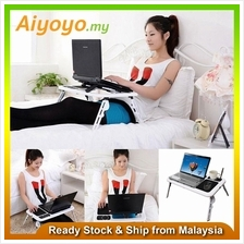 E-Table Portable Foldable Laptop Notebook Computer Desk Table USB Cooling Big