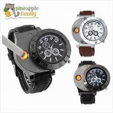 Men's Electronic Lighter Rechargeable Watch Fashion Chronograph Watch