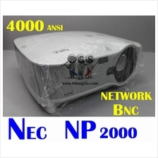 NEC NP2000 3LCD PROJECTOR ,NETWORK ,BNC ~ 4000 ANSI