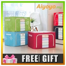 66L Large Oxford Cloth Dual Opening Spring Blossom Foldable Storage Box Wardro
