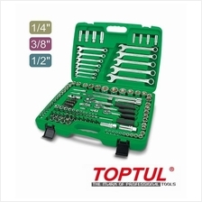 Toptul GCAI130B Professional 130pcs 1/4';3/8'&1/2'Dr.Socket Wrench Set