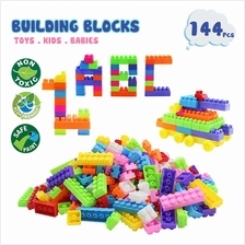 PRADO 144 Pcs DIY Colourful Building Blocks BPA Free Toys Set Early Le