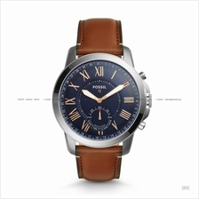 FOSSIL FTW1122 Men's Q Grant Hybrid Smartwatch Leather Strap Brown