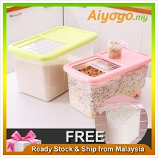15L Rice Dispenser Storage Container Box Kitchen Organizer Dry Grain Food Cere