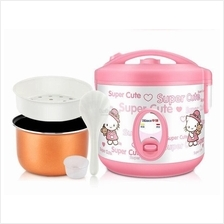 Mini Portable Electric 2L Hello Kitty Rice Cooker Cooking Pot Non Stic