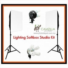 Camzilla SE212B - 2 x Light Studio Lighting and Softbox continuous lig