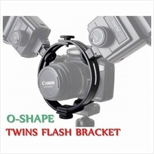 DigiFox Dual Flash O-Ring Bracket with 3 Standard Shoe Mounts