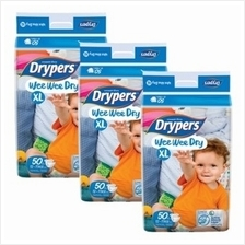 Drypers Wee Wee Dry XL50 (12-17kg) *3 pack bundle* - Mega Pack - - 28%)