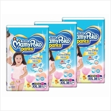 MamyPoko Extra Dry Skin Pants GIRL XXL38 (15-25kg) *3 pack bundle