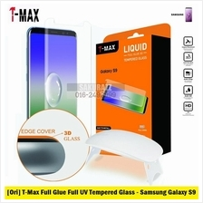 [Ori] T-Max Full UV Glue Tempered Glass for Samsung S9 [HD Clear]