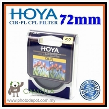 100% Genuine 72MM HOYA Circular Polarizer (CPL) FILTER