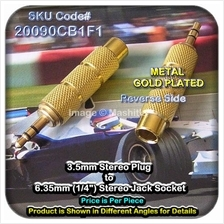 [ 20090C] 3.5mm Stereo Plug to 6.35mm (1/4?) Stereo Jack So