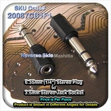 [20087C] 6.35mm (1/4?) Stereo Plug to 3.5mm Stereo Jack So