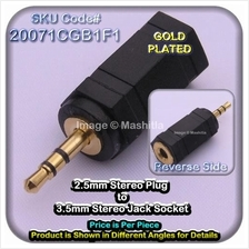 [20071CG] 2.5mm Stereo Plug to 3.5mm Stereo Jack Socket Co