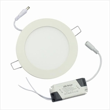 12w Recess Panel Light - Cold White - Round - Warranty 2 Years