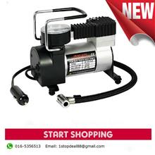 Car Tyre Inflator Portable Auto Air Compressor with Pressure Gauge