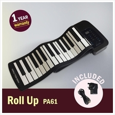 [Rechargeable & Ready Stock] Flexible Roll Up Piano PA61 (61keys)