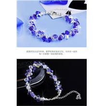 528233061839 Swarovski Elements Lavender Purple 925 Silver bracelet