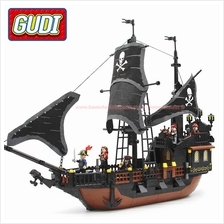 GUDI Building Blocks Compatible with LEGO Black Pearl Pirates