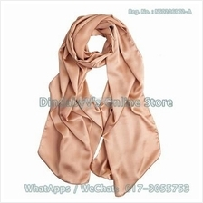 [DindabyV] Woman's Solid Color  Imitate Silk Satin Shawl / Hijab 660O