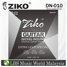 Ziko String DN010 Electric Guitar String Set Nickel Wound Extra Light