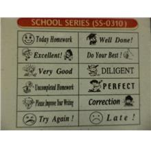 New Teachers Motivation English Rubber Stamps School Set SS0310