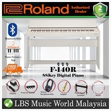 Roland F-140R 88 key Digital Home Piano Bundle White (F140R F140 F 140