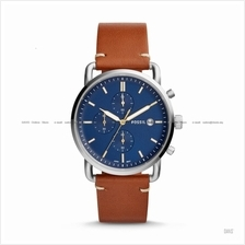 FOSSIL FS5401 Men's The Commuter Chronograph Leather Strap Brown