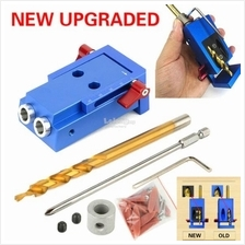 New Mini Pocket Slant Hole Jig Kit Drill Guide Wood Woodworking Tool