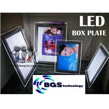 SUPER BRIGHT LED CRYSTAL LIGHT BOX PLATE SINGLE SIDED A3,A4,60x40cm