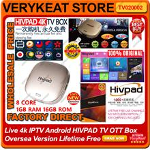 Live 4K IPTV Android HIVPAD TV OTT Box Oversea Version Lifetime Free